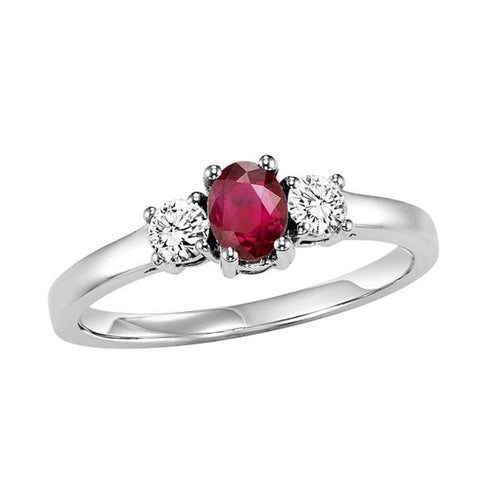 14kw color ens prong ruby ring 1/4ct, h946-3-4wc