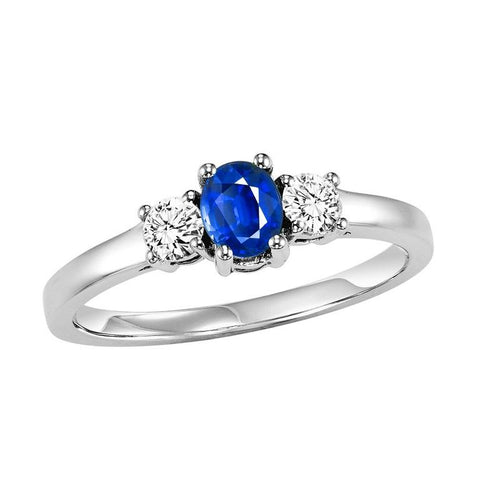 14kw color ens prong sapphire ring 1/4ct, h946-4-4wc