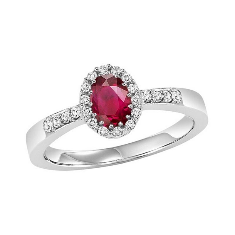 14kw color ens halo prong ruby ring 1/8ct, rg68824-4wc