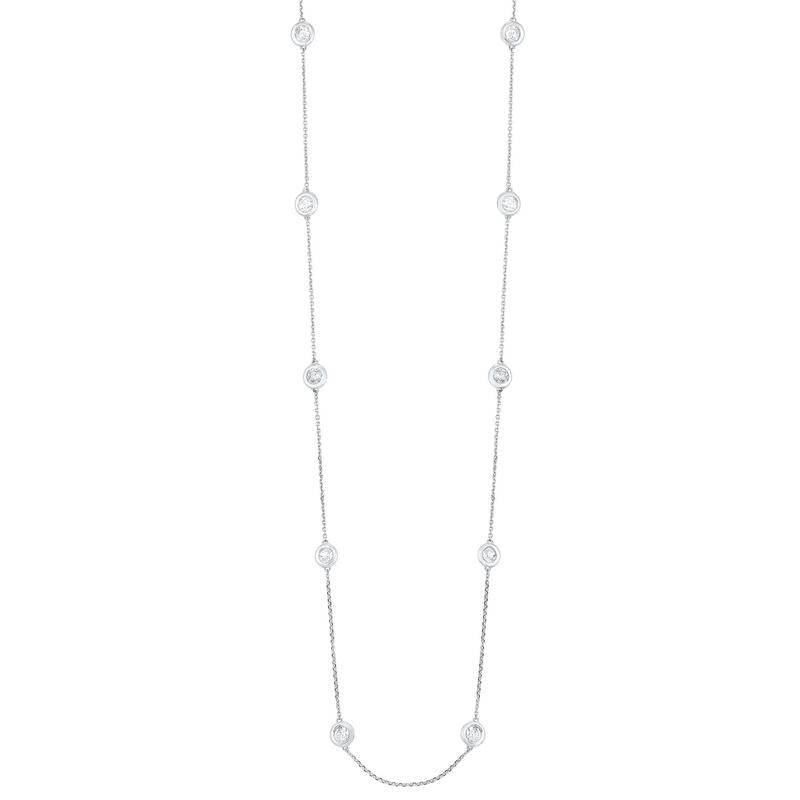 14kw dbty bezel diamond necklace 2ct, er24315-4wc