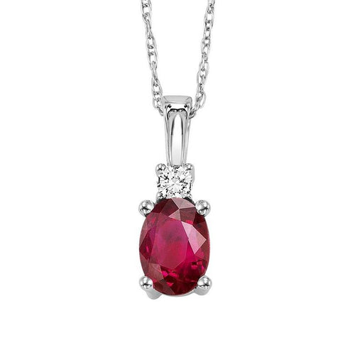 14kw color ens prong ruby necklace 1/25ct, fb1152-4wf