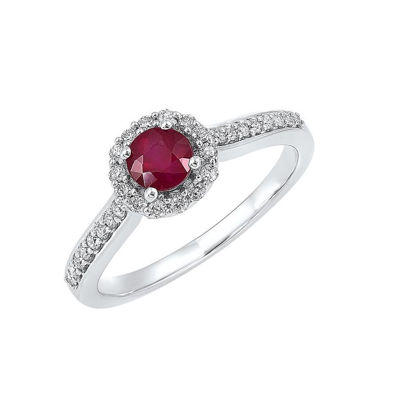 14kw color ens halo prong ruby ring 1/3ct, fb1185-4wf