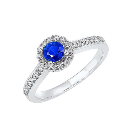 14kw color ens halo prong sapphire ring 1/3ct, fb1200-4wf