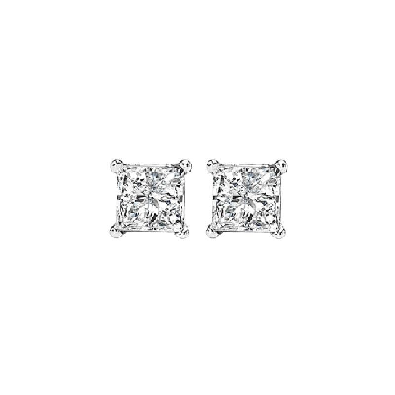 14kw prong diamond studs 1/4 ct, fr1227-4pd