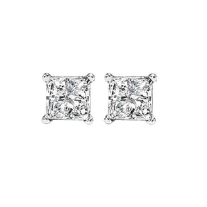14kw prong diamond studs 1/3ct, fr1227-4wd