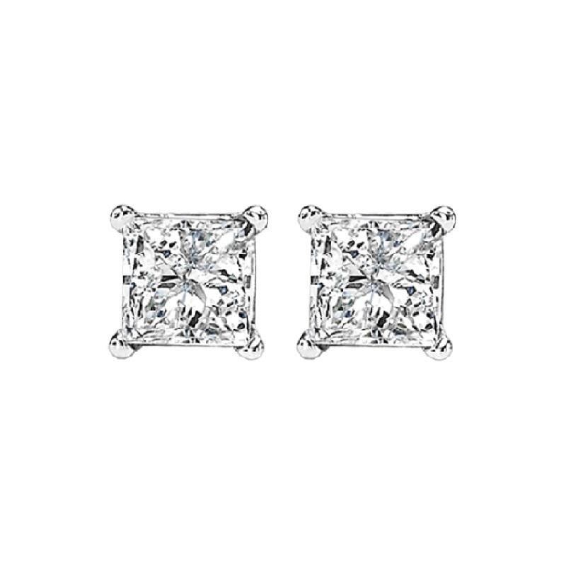 14kw prong diamond studs 1/2ct, fr1068-4pd