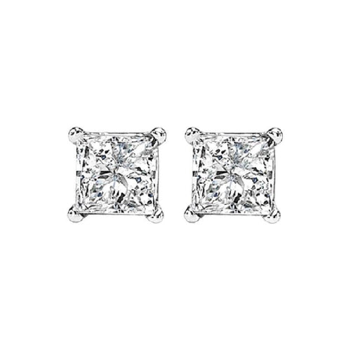 14kw prong diamond studs 5/8ct, fr1068-4wd