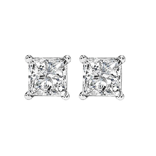 14kw prong diamond studs  3/4ct, fr1068-4yd