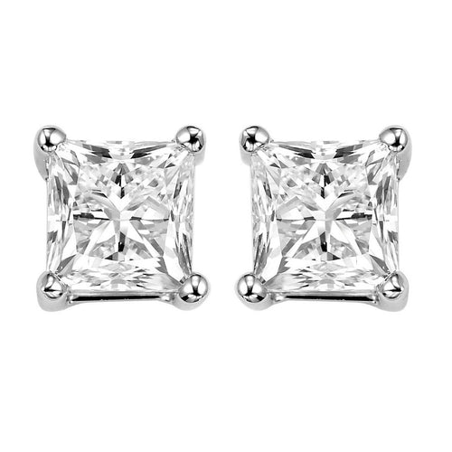 14kw prong diamond studs 2ct, fr1069-4yd