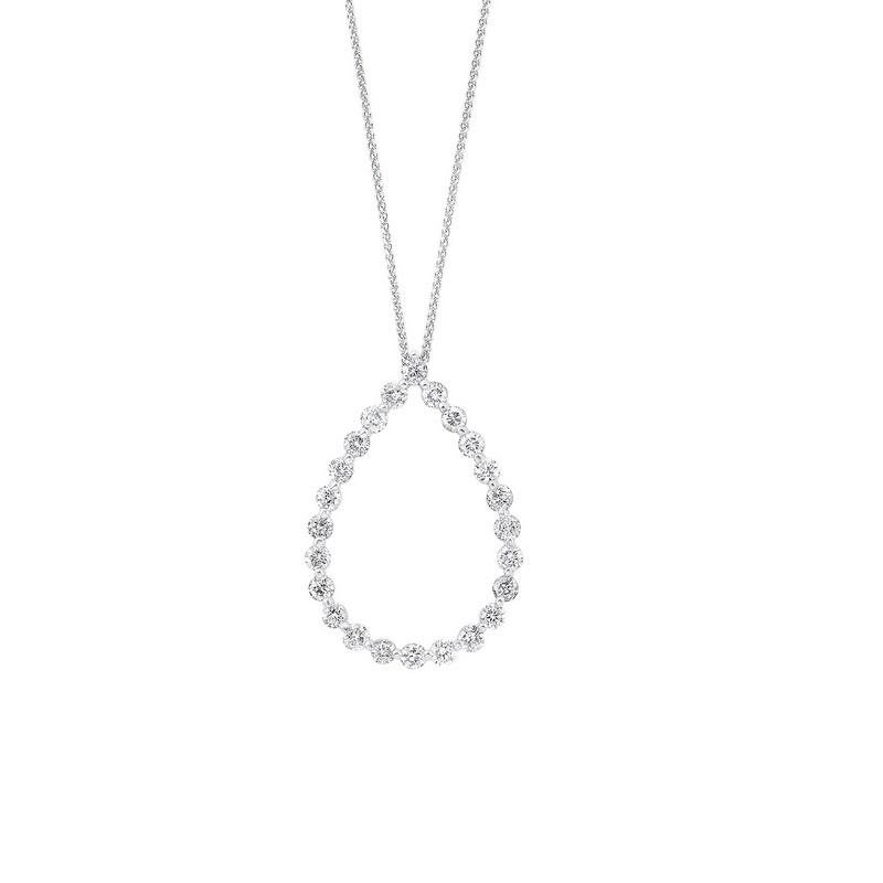 14kw single prong diamond necklace 1ct, pd10412-4wf