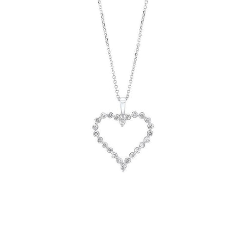 14kw single prong diamond necklace 1/2ct, pd10416-4wf
