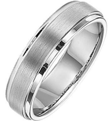 6MM Men's Tungsten Carbide Band