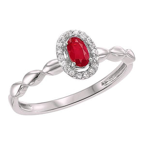 10kw color ens prong ruby ring 1/14ct, fr1073-4wd