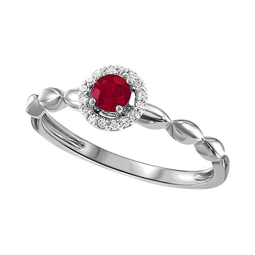 10kw color ens prong ruby ring 1/15ct, fr1271-4wd