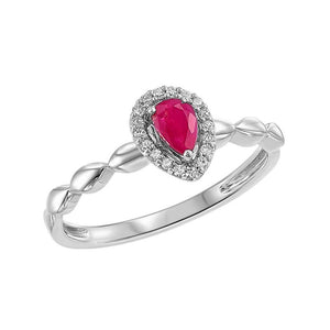 10kw color ens prong ruby ring 1/14ct, fr1071-4wd