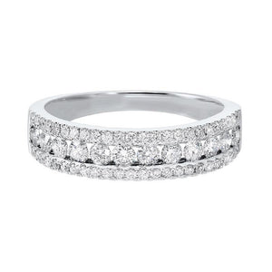 14kw 3 row multi channel diamond band 3/4ct, rg10055-1wd