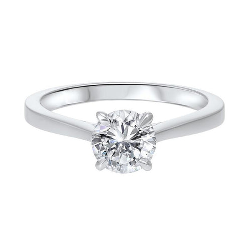 14kw solitaire prong diamond ring 1/3ct, hdcr006a-4wd
