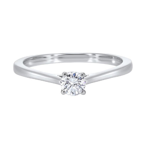 14kw solitaire prong diamond ring 3/4ct, hdcr008-4wd