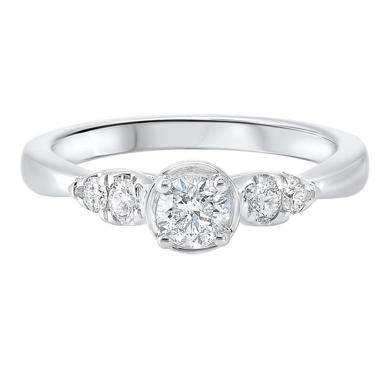 14kw c&c prong diamond ring 1/2ct, rg71818-4wd