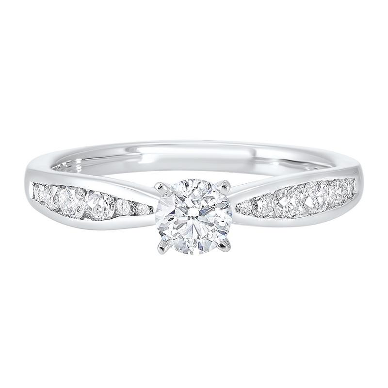 14kw c&c channel diamond ring 3/4ct, rg10234-4wd