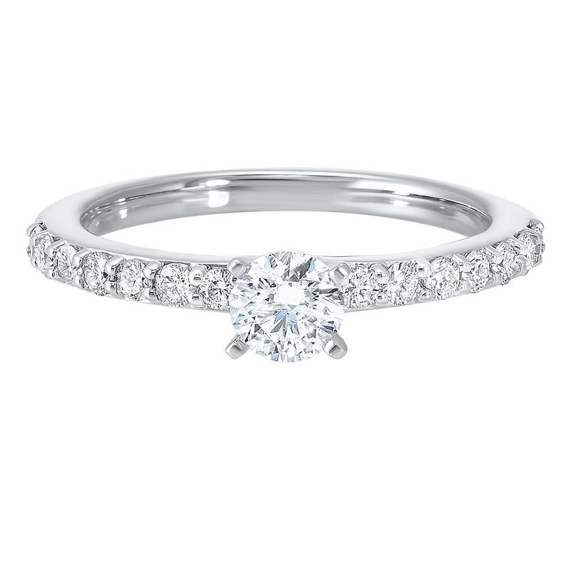 14kw c&c shared prong diamond ring 3/4ct, wb5778ir-4wc