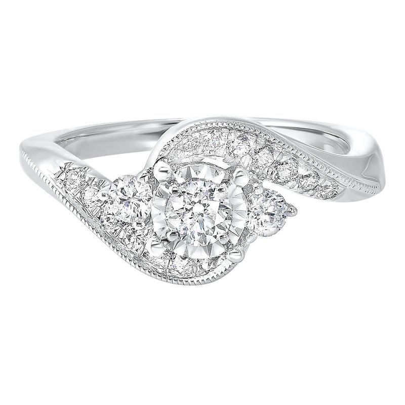 14kw c&c prong diamond ring 5/8ct, rg71796-4wd