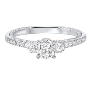 14kw c&c split prong diamond ring 3/4ct, wb5776ir-4wc