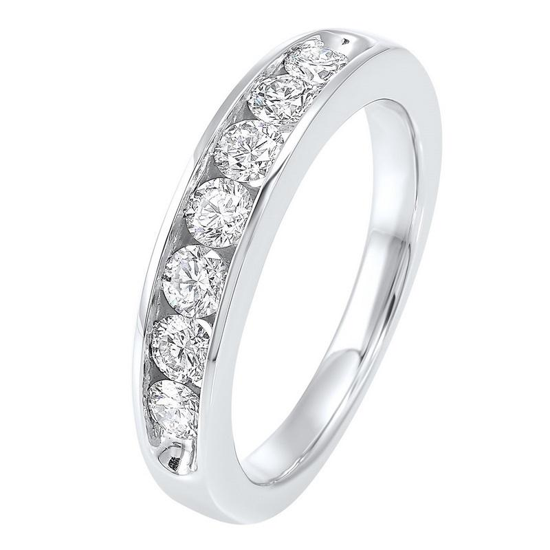 14kw 7 stone channel diamond band 3/4ct, er10366-1wdr