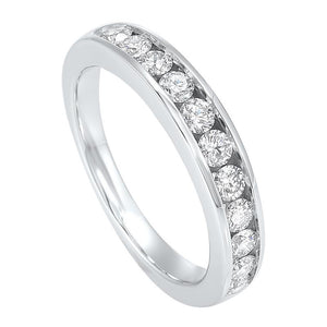 14kw 11 stone channel diamond band 3/4ct, pd10402-1wds