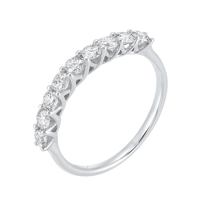 14kw 9 stone shared prong diamond band 3/4ct, fp4066-4wcr
