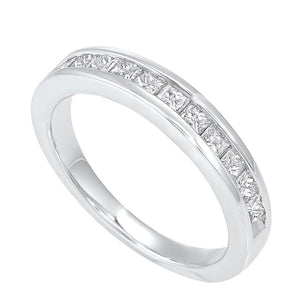 14kw 11 stone channel diamond band 3/4ct, ear40-4w