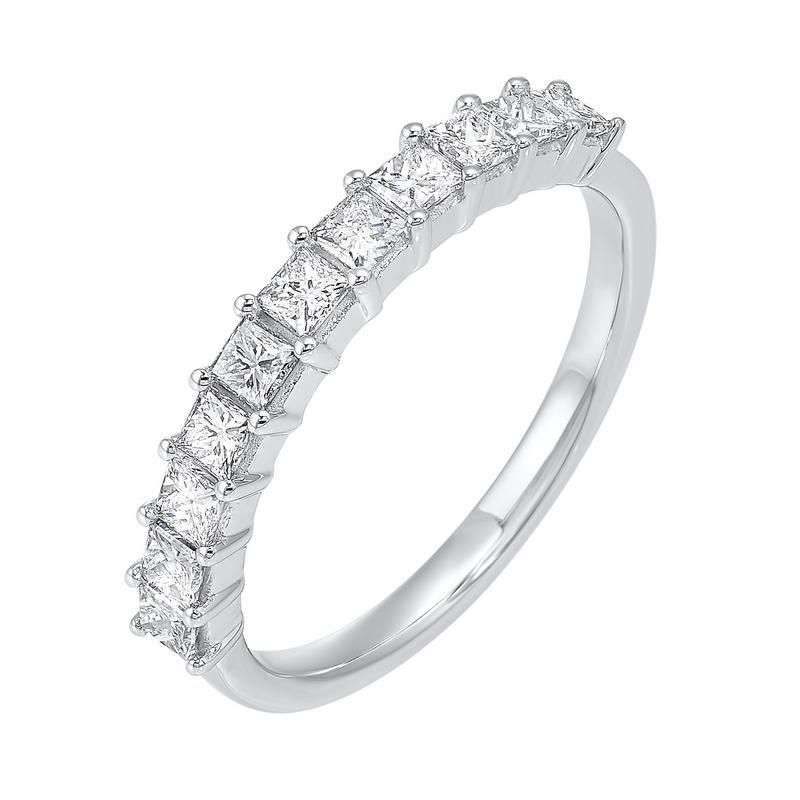 14kw 11 stone shared prong diamond band 3/4ct, rg10250-1wde
