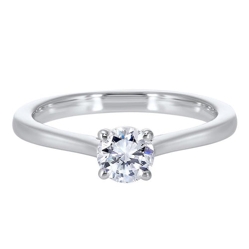 14kw solitaire prong diamond ring 3/5ct, pd10411-4wf