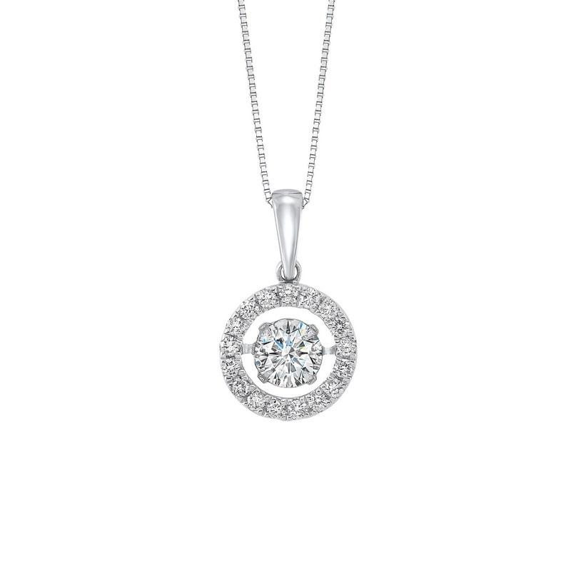 14kw rol halo prong diamond pendant 1/2ct, rg10057-4wd