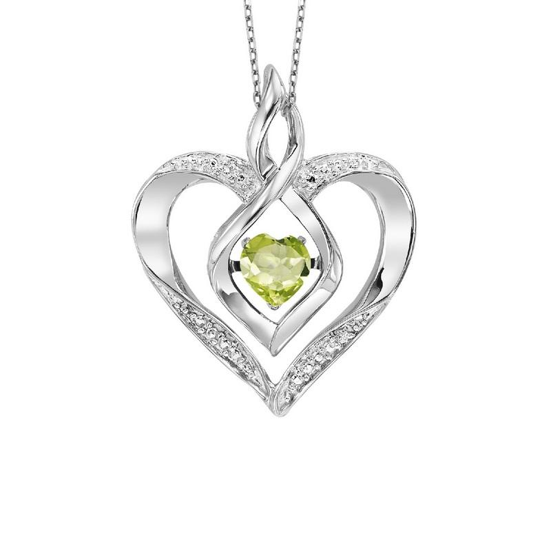 ss rol prong peridot necklace 1/250ct, ewo53-4w