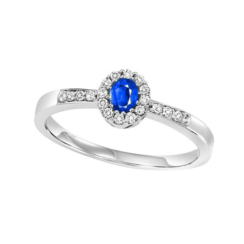 14kw color ens halo prong sapphire ring 1/6ct, rg68787-4wc
