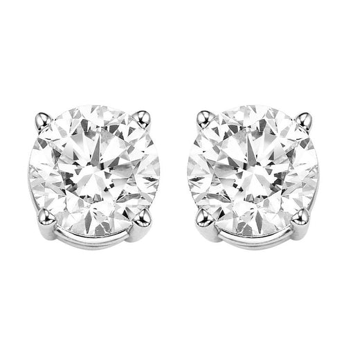 14kw prong diamond studs 2ct, rg10052-1yd