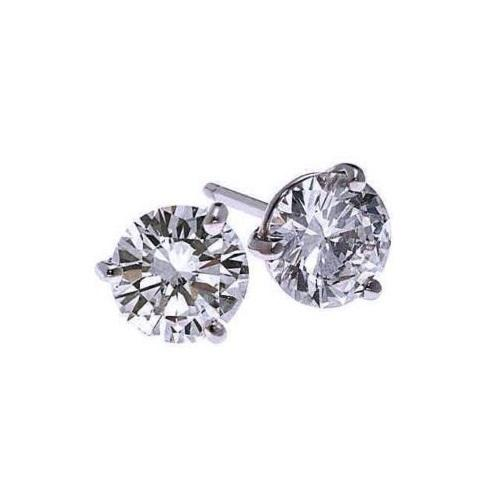 18kw prong diamond studs 1/3ct, fr1311-4pbk