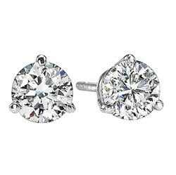 18kw prong diamond studs 2/5ct, fr1311-4wbk