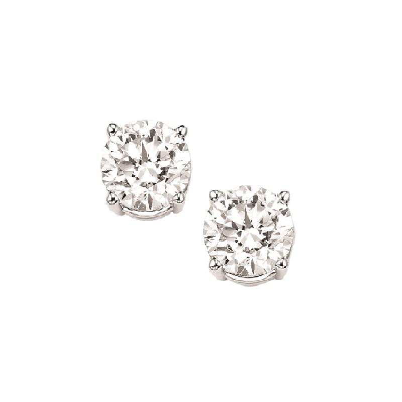 14kw prong diamond studs 3/8ct, fr1273-4yd