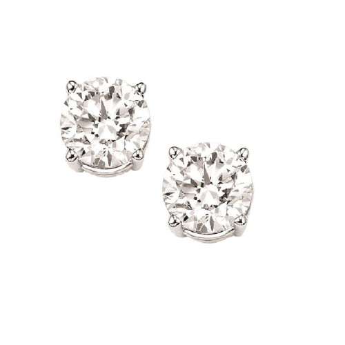 14kw prong diamond studs 1/2ct, fr1075-4pd