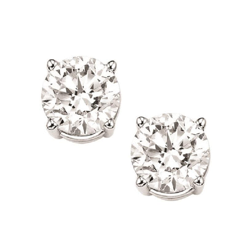 14kw prong diamond studs 2ct, fr1459-4pd