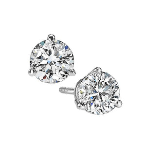 14kw prong diamond studs 3/4ct, fr1236-4yd