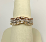 Load image into Gallery viewer, 14K Mixable Diamond Wedding Band .13CTW