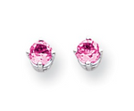 Load image into Gallery viewer, 14KWG Round Gemstone Earrings