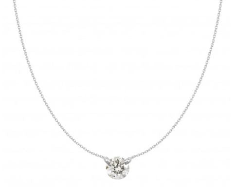 Dainty Diamond Necklace in 18 KWG