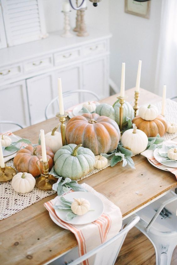Whimsical Fairytale Fall Cottage Thanksgiving table setting decor