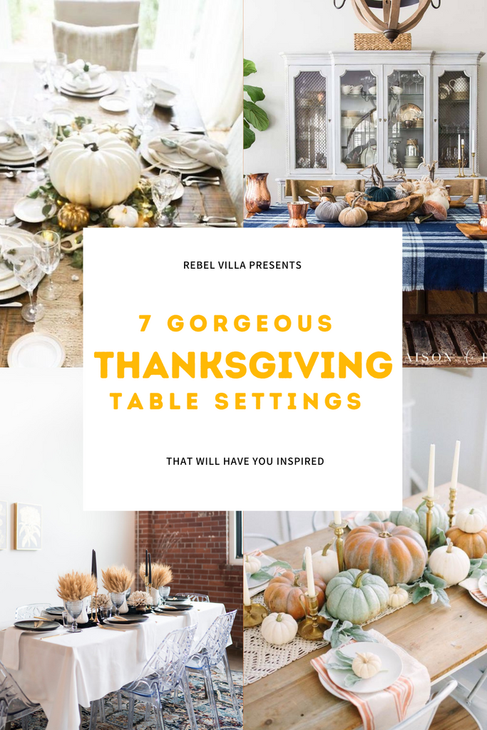Thanksgiving table settings that are beautiful and unique different