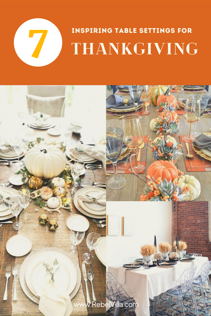 7 table settings for fall thanksgiving inspiration
