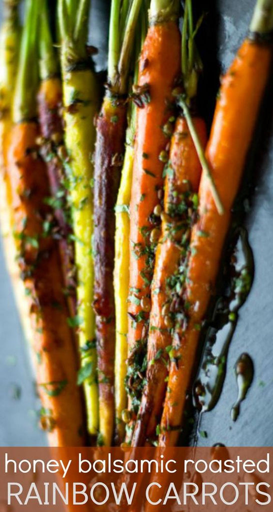 roasted rainbow carrots roasted and baked easy side dish for thanksgiving